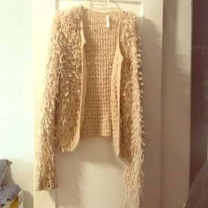 Fierce shaggy cardigan —NEVER WORN!